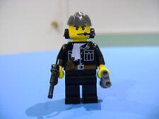 LEGO LOT #127 CUSTOM WW2 WORLD WAR 2 BLACK GERMAN PANZER COMMANDER LUGER HEADSET