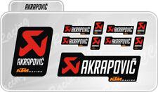 Kit 10 Adesivi Akrapovic KTM RACING resistente al calore