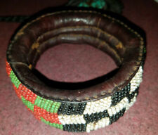 beaded bracelet African Leather