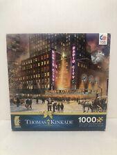 Buffalo Thomas Kinkade 1000 Piece Puzzle Radio City Music Hall Christmas Santa