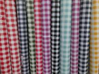 WATERPROOF WIPE CLEAN VINYL OILCLOTH PVC KITCHEN CHECKS SPOT TABLE CLOTH FABRIC