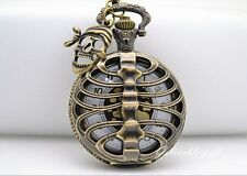 Steampunk Anime One Piece Pirate Skull Pocket Watch