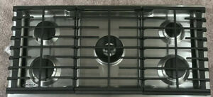 KitchenAid 36 inch 5 Burners Stainless Steel Gas Cooktop Model #KCGS556ESS NEW
