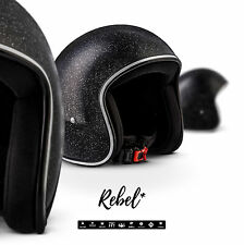 Rebel R2 Flake – Jet Casco per Moto Vespa Scooter Stile Retrò e (f2m)
