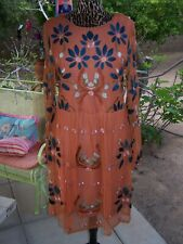 NWT~$128~Darling Embroidered Mesh Western BOHO Festival Dress~L/M~Philosophy