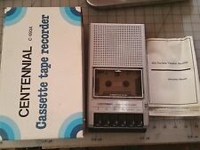 Centennial Super Slim Portable Cassette Tape Recorder C 693A w/ box & Instructi