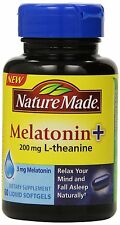 Nature Made Melatonin 3mg with 200mg L-theanine 60ct -Expiration Date 05-2018-