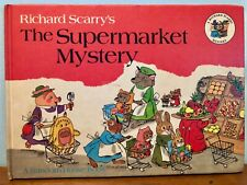 Richard Scarry's The Supermarket Mystery 1969 1st Edition Hardcover