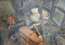Sofia CHIOSTRI (Firenze 1898-1945) Attrezzi da lavoro splendido OLIO cm 50x70