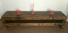 TV stand Chunky Rustic Side Table Wooden Sleeper 120cm cabinet lcd plasma coffee