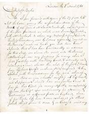 1780 British Revolutionary War Troop Transport/Slave Ship HMS Providence Letter