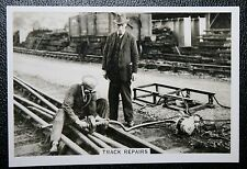GWR    Electric Arc Welding Track Repairs  Vintage Photo Card  VGC