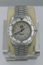Tag Heuer WE1111.BA0300 Professional 2000 SS Watch Mens Gray Silver Mint 972.006