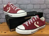 CONVERSE UK 8 EU 41.5 BURGUNDY STAR PLAYER OX SUEDE TRAINERS MENS LADIES     E