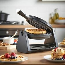 Commercial Rotating Waffle Machine Nonstick Electric Belgian Breakfast Maker