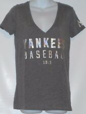 Victoria's Secret Pink Limited Edition New York Yankees Graphic Tee Gray M NWT