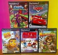 Disney Cars Madagascar Bee Movie Charlie Alvin  - PS2 Playstation 2 Game Lot