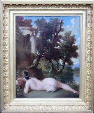 OLD MASTER DUTCH NUDE ARCADIAN LANDSCAPE ISAAC MOUCHERON 1700 OIL PAINTING ART