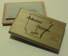 "Soft Arkansas 4"" X 2"" X 1/2"" Sharpening Stone,Natural Ark Oilstone in Wood Box"