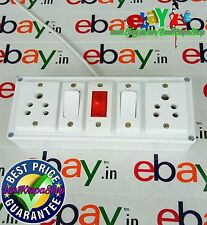 Power Electric Extension Board With Dual Plugs LED Indicator 15 ft Cord