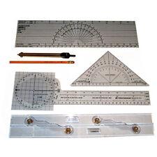 Davis Instruments Charting Kit - Complete 6pc Boat Sailing Navigation Tools Set