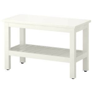 IKEA Bench Stool Badbank Tray Table Shoe Rack 83cm Bathroom Hallway
