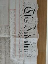 1851Vellum Indenture Lease for 1, 2 and 3 Trinity Road and Acre Lane Brixton