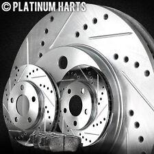 [FRONT KIT]PLATINUM HART DRILLED SLOT BRAKE ROTORS AND SEMI MET PAD PHCF.6110303