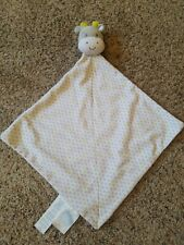 PRECIOUS FIRSTS CARTER'S Gray Giraffe Cow Plush Lovey~Security Blanket~Rattle