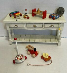 Vintage Artisan Neat Nursery Toys Most Signed Dollhouse Miniature 1:12