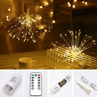 8 Modes Firework LED String Lamp Hanging Starburst Fairy Light Party Home Decor