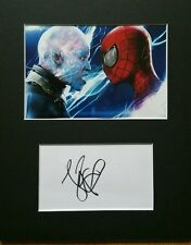 Jamie Foxx, 'The Amazing Spiderman 2' hand signed mounted autograph.