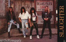 POSTER:  MUSIC : SLAUGHTER II - GROUP POSE  1990 - FREE SHIPPING  #3286   LW19 S