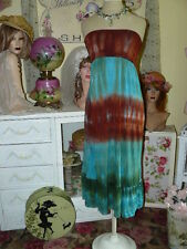 ROMEO & JULIET COUTURE $115 Earth Angel TIE DYE Strapless MAXI DRESS L
