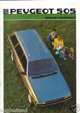 Auto Brochure - Peugeot - 505 Break Familiale - 1986 (AB132)