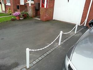 Plastic (UPVC) Stake Fit Temp / Perm Fence Post for Garden Post & Chain Fencing