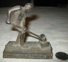 Antique Blacksmith Man Forge Cast Iron Anvil Smelt Foundry Tool Art Paperweight