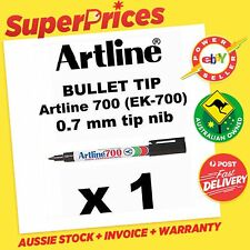 ARTLINE 700 0.7mm 1 x BLACK PERMANENT MARKER BULLET TIP NIB EK-700 PEN ART DRAW
