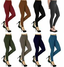 WOMEN'S LADIES FLEECE LEGGING SKINNY FIT THICK WARM WINTER THERMAL TROUSERS 8-16