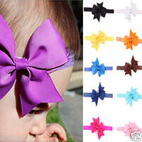 Cute Baby Girls Headband Toddler Elastic Bowknot Headbands Headwear Photography