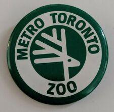 Vintage Metro Toronto Zoo Pinback Button Logo Souvenir