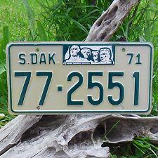 Echte Kennzeichen South Dakota (772551) USA Nummernschild 1971