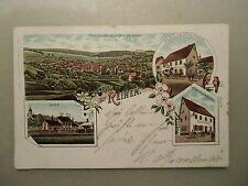 Ansichtskarte Reihen Sinsheim Gasthaus Zum goldenen Lamm + goldenen Ochsen 1901