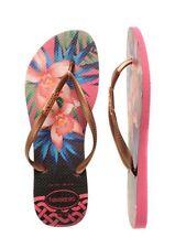 Havaianas 💞 New Slip Tropical Flats Thongs Shoes Sandals USA 9/10 EUR 41/42