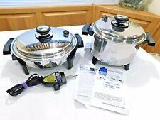 ROYAL PRESTIGE Liquid Core Electric Skillet & MP5 Slow Cooker Crock Pot USA