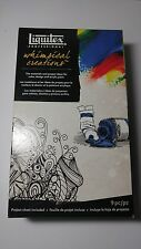 NEW! Liquitex Whimsical Creations Acrylic Paint Set 9 pc w Project Sheet