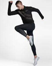 Men's Nike Power Tech Flash Training Leggings Tight Gym - Size Small (S) Black