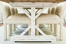 Farmhouse DIY Table Legs - x-base Trestle Base Solid Wood Handmade - Chic Build