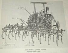 John Deere C-11 Field Cultivator Parts Catalog Manual Book JD Original! 2/71