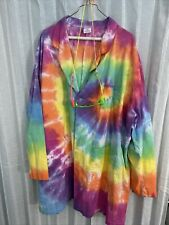 Psychedelic Tye Dye Lab Coat & Goggles Rave Party Halloween Science Men'S Xl